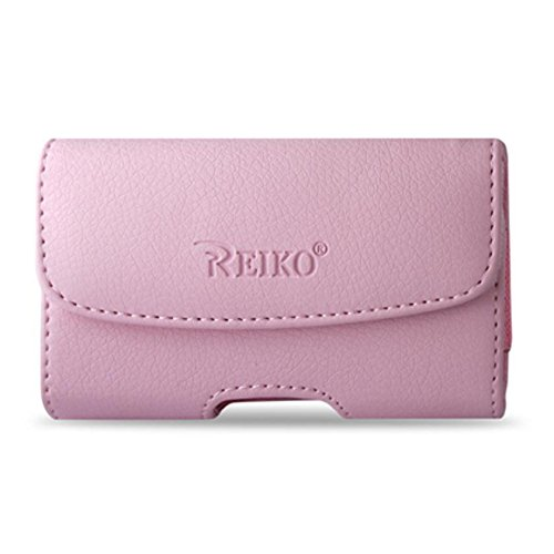 Baby Pink Horizontal Leather Case with Magnetic Closure with Belt Clip and Belt Loops for Alcatel Go Flip