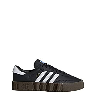 adidas, Sambarose Trainers, Women's Shoes, Black/White/Gum, 5 US
