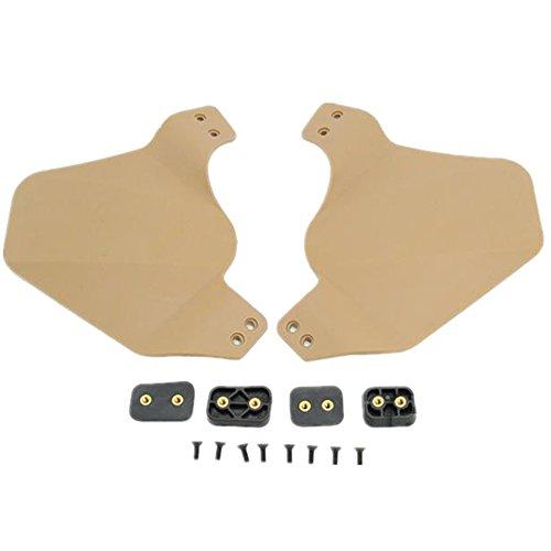 Loglife Side Cover for Helmet Rail OPS fast helmet rail system Two ear protection cover black DE FG (DE)