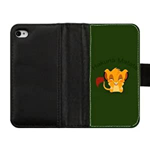 iPhone 4S 4 case Lions Custom Diary Leather Cover Case for iPhone 4S,4