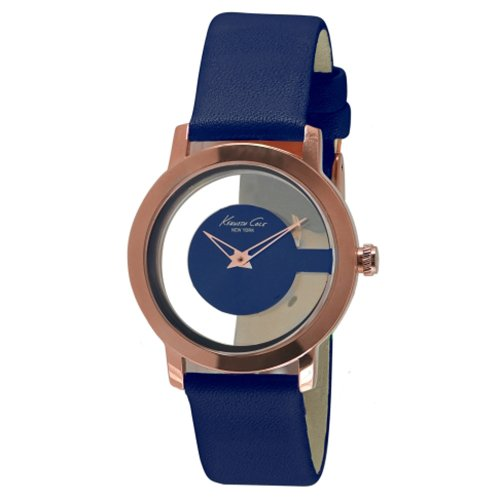 Kenneth Cole New York Transparent Rose-Gold with Blue Strap Women's watch #KC2812