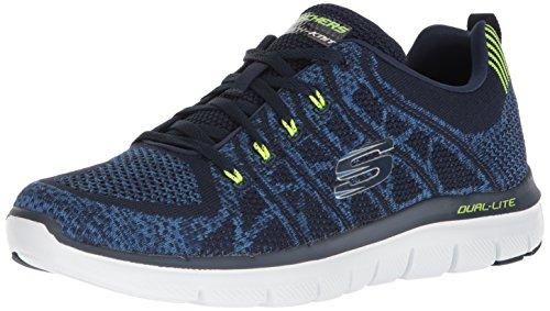Uomo scarpa sportiva, colore Grigio , marca SKECHERS, modello Uomo Scarpa Sportiva SKECHERS FLEX ADVANTAGE 2 0 Grigio Blu Marino