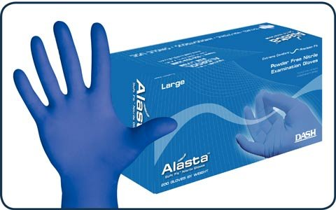 DASH Alasta Blue 2000 Nitrile Exam Gloves (Large) by Dash