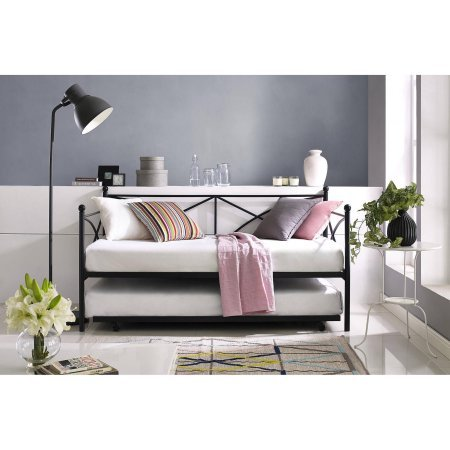 MAINSTAYS Monaco Daybed and Trundle, Black
