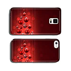Christmas tree with red christmas balls. cell phone cover case Samsung S6