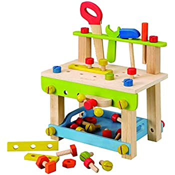 Amazon Com Everearth Toddler Workbench With Tools Wooden