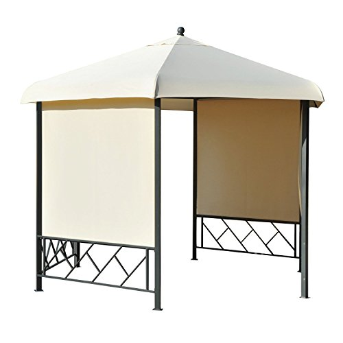 Outsunny 12' x 12' Steel Hexagonal Gazebo Canopy with Removable Side Panels by Outsunny (Image #5)