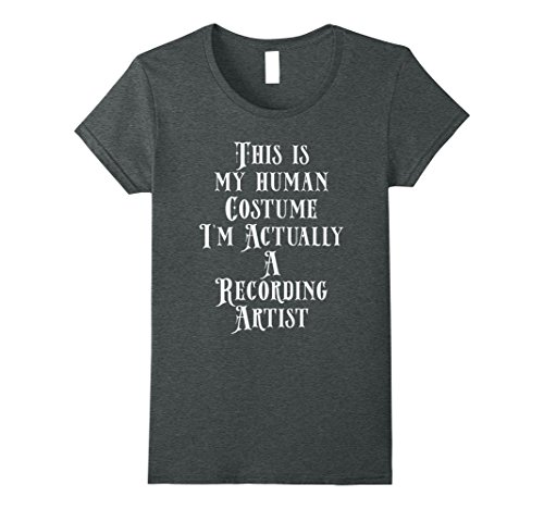 Womens My Human Costume - Recording Artist Musician Rapper Singer Medium Dark Heather - Singers Costume Ideas
