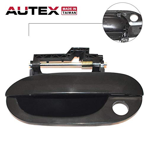 AUTEX Door Handle Black Exterior Outer Front Left Driver Side Compatible with BMW 528i 1997-2000 Replacement for BMW 528it 1999 2000 83171, 51218245461, BM1310105