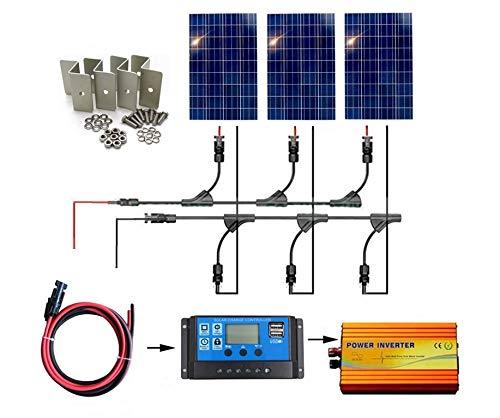 SAYA ソーラーパネル300Wモジュール100w18v3枚 300wオフグリッドシステム B07JDP486G