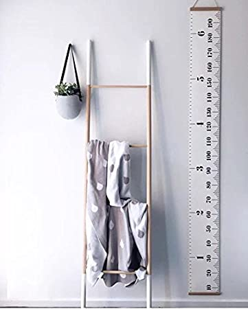 Amazon Miaro Kids Growth Chart Wood Frame Fabric Canvas Height