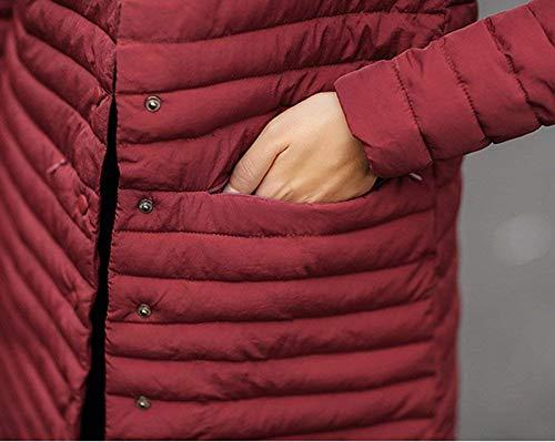 Qualit Estilo Invernali Di Alta Parka Bobo Tasche Especial Manica Baggy Puro 88 Lunga Anteriori Colore Coreana Collo Giacca Donna Pulsante Vento IxwwTR4q