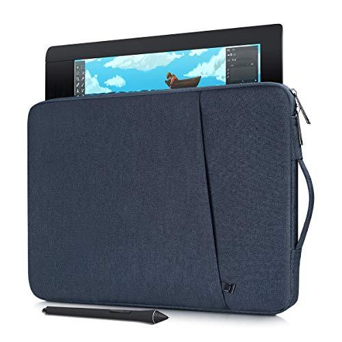 Waterproof Drawing Graphics Tablet Sleeve Protective Case for Wacom Cintiq 16/ Cintiq Pro 16, Wacom Cintiq 22/ Intuos Pro PTH860, Wacom Carrying Bag Protective Sleeve(Navy Blue)