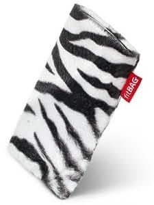 fitBAG Bonga Zebra - Funda a medida, Exterior de piel sintética, con forro interno de microfibra,para Samsung SGH-X510