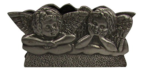 2 Angels Business Card Holder - Silver Holder Place Card Angel