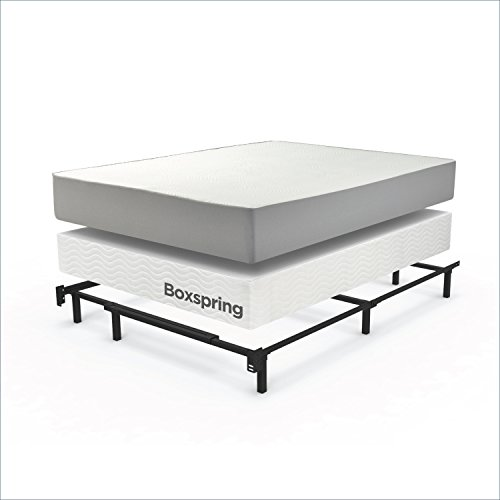 Zinus Compack Adjustable Steel Bed Frame, for Box Spring & Mattress Set,...
