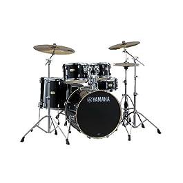 Yamaha Stage Custom Birch 5pc Drum Shell Pack – 20″ Kick, Raven Black