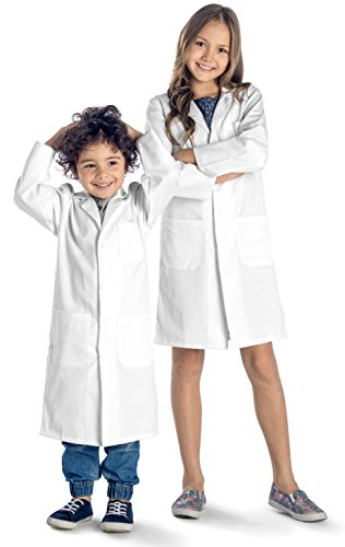 Dr. James Junior Unisex White School Lab Coat • SUPERIOR QUALITY US-05-11/13