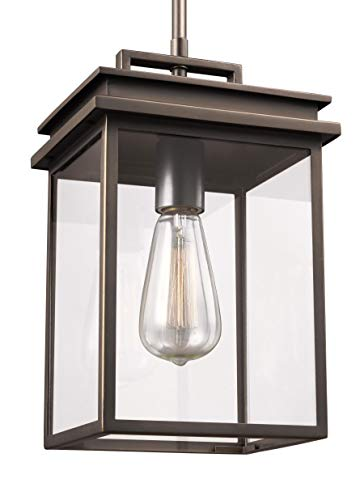 Feiss OL13609ANBZ Glenview Outdoor Lighting Pendant Lantern, Bronze, 1-Light (8