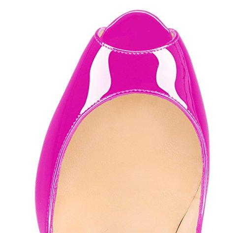 Guoar - Zapatos con tacón Mujer Rosa