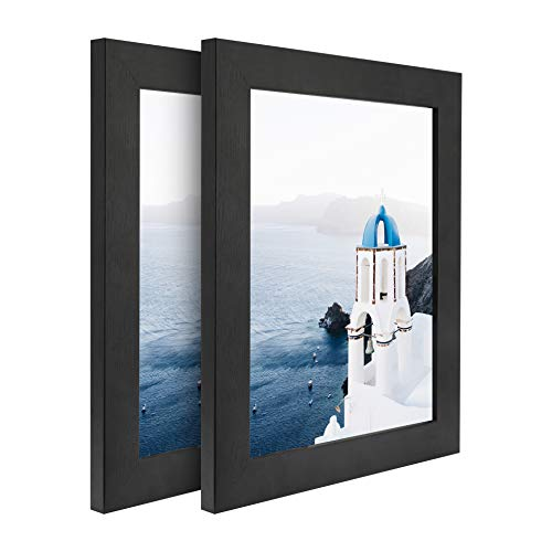8x10 Black Picture Frames for Photo Display, Wood Frame Set for Wall Tabletop Decoration(Pack of 1,2,6) (Black,2 Pack, 8x10_Pack of 2) (2 8x10 Picture Frame)