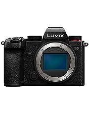 Panasonic LUMIX S5 Full Frame Mirrorless Camera, 4K 60P Video Recording with Flip Screen & WiFi, L-Mount, 5-Axis Dual I.S, DC-S5BODY (Black) photo