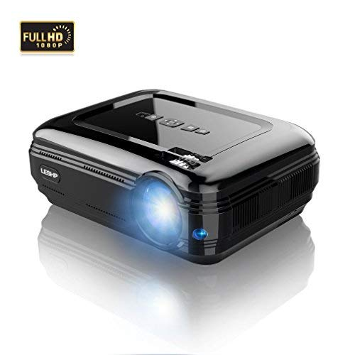 OUTAD LCD Projector, 3200 Lumens Multimedia, Support Full HD 1080P HDMI...