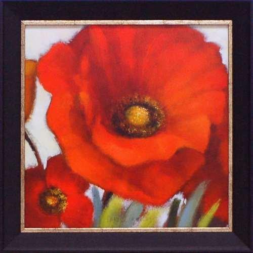 Artistic Reflections Poppy Splendor Square I Framed Art