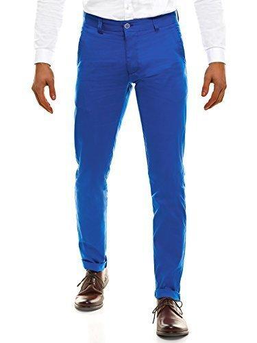 OZONEE Pantalones De Hombre Pantalones Chinos Pantalón de Traje Negocios Boda Ajustado Black Rock 202 Ul8USR
