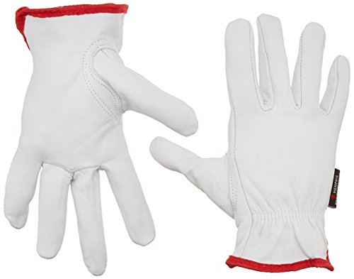 Memphis Glove 3611S Premium Grain Goatskin Driver Gloves with Keystone Thumb, White, Small, 1-Pair