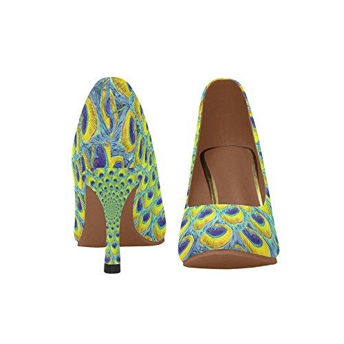 Shoes Dress InterestPrint Pump Womens Multi Heel 3 Fashion High qfwYOv1