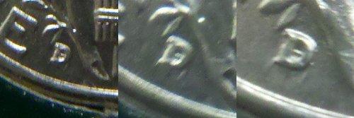 Mint Mistake! -- Uncirculated 1944-D/D Mercury Dime -- Repunched Mintmark! -- Catalog #FS-10-1944D-501