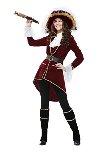 Red Captain Hook Jacket (Captain Hook Plus Size Costume for Women 3X)