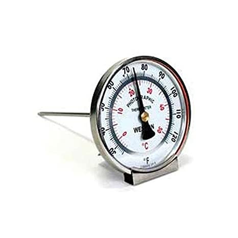 Weston Analog, Large Dial Faced Stem Thermometer