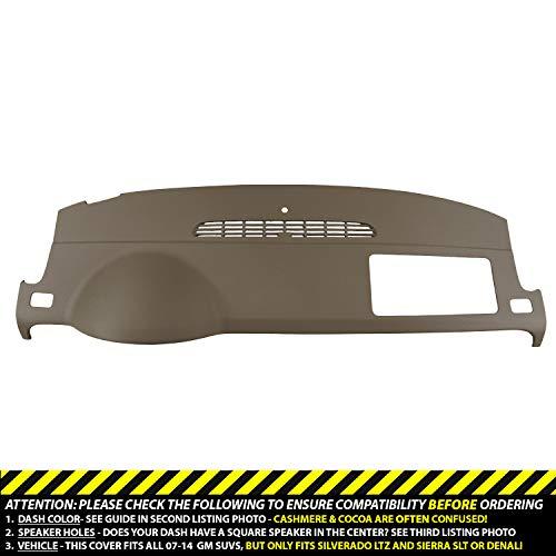 Cover Compatible with 07-14 GM SUVs w/o Dash Speaker in Cashmere ()