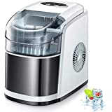 Kismile Countertop Ice Maker Machine,26Lbs/24H Compact Ice Makers,Portable Ice Cube Maker with self-Cleaning