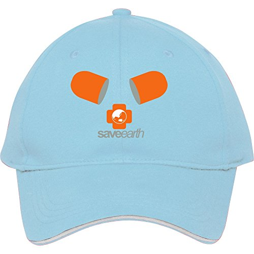 Fashion Save Earth Light Blue Snapback Cap Hat Male/female Baseball Cap Cotton