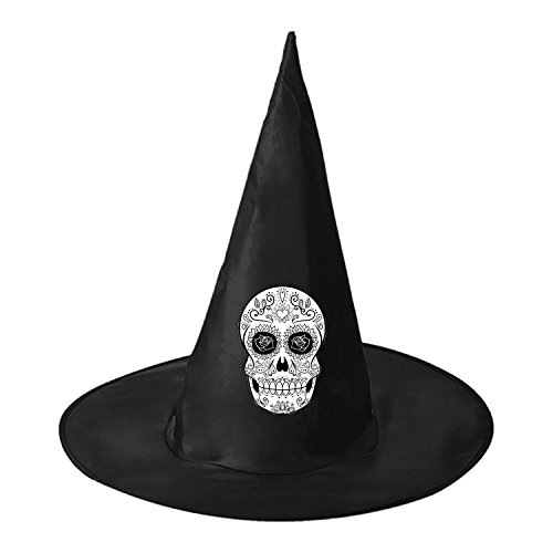White Skull DIY Unisex Halloween Toys Black Witch Hats Costume Party Cosplay Cap For Women Men Boys Girls