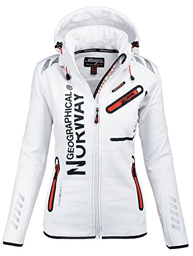 Geographical Norway Lady Veste Softshell Femme Extrieur Fonction Impermable White 007