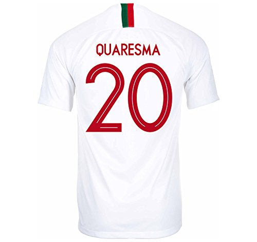 (Nike QUARESMA #20 Portugal Away Soccer Jersey Russia World Cup 2018 (S))