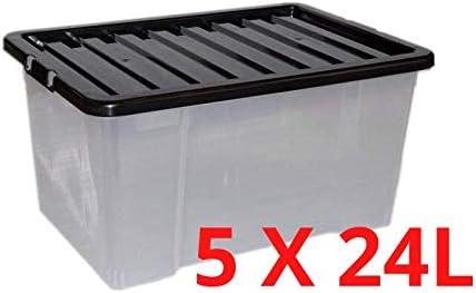 5 Cajas de Almacenamiento para Debajo de la Cama tama/ño King de 32 l
