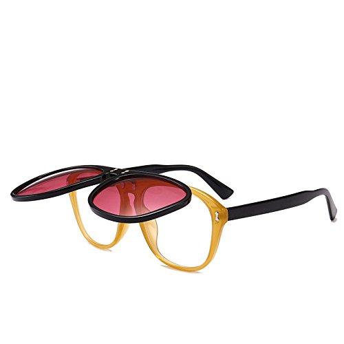 Sol Tendencia Exterior Visera Gafas Sol Mujeres Plano Gafas RinV Doble Capa Vacaciones Viaje D De De Espejo F Moda 7wZaf