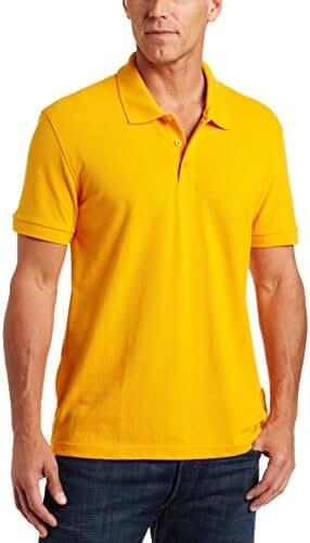 Classroom Men's Short-Sleeve Pique Polo Shirt