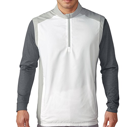 Adidas Golf Men's Club Half Zip Wind Vest - US XL - (Adidas Lightweight Vest)
