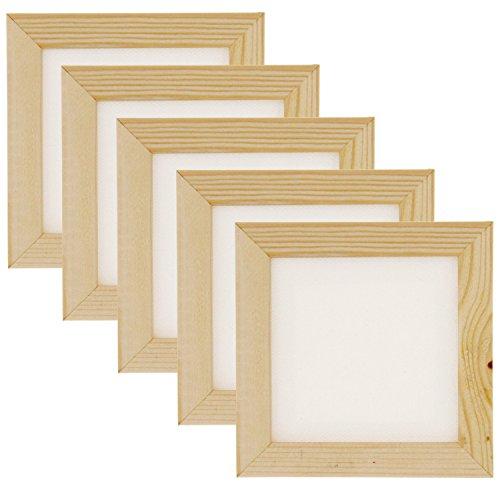 """Art Alternatives 3""""x3"""" Mini Canvas & Frame Set - White Canva"""