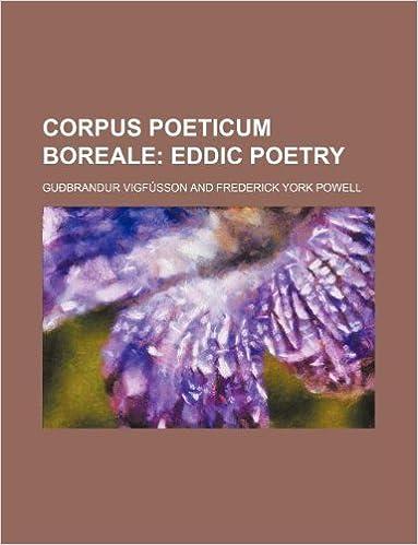 Corpus poeticum boreale;  Eddic poetry