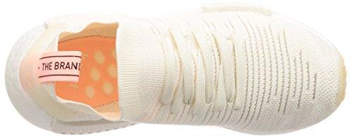 adidas NMD_r1 Stlt PK W, Chaussures de Gymnastique Femme Blanc (Cloud White/Cloud White/Clear Orange)