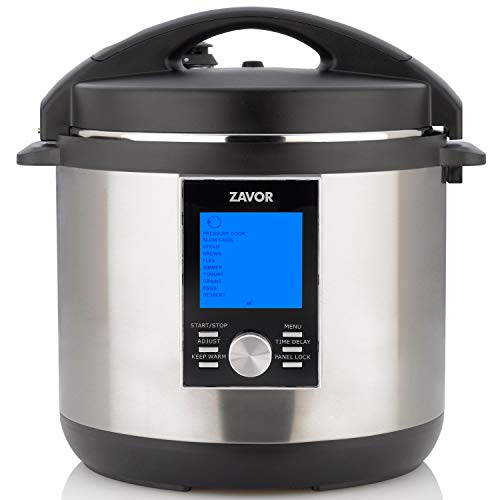 Zavor LUX LCD 8 Quart Programmable Electric Multi-Cooker: Pressure Cooker, Slow Cooker, Rice Cooker, Yogurt Maker, Steamer and more - Stainless Steel (ZSELL03) by ZAVOR (Image #9)