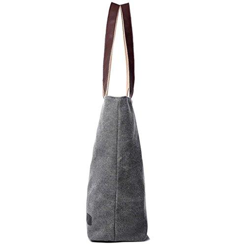 27CM Toile Vintage Pure Main Sacs en Femme à Sac × à Gris Taille × épaule à 11 BZLine® 34 Style wqBnU1Xn