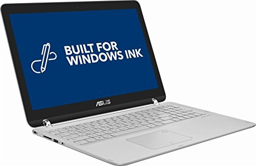 2018 Asus 2-in-1 15.6-inch Touch-Screen Full HD Laptop PC - Intel Core i5 Processor, 12GB Memory, 1TB Hard Drive, Backlit Keyboard, Bluetooth, USB 3.0, Sandblasted aluminum Silver by Asus